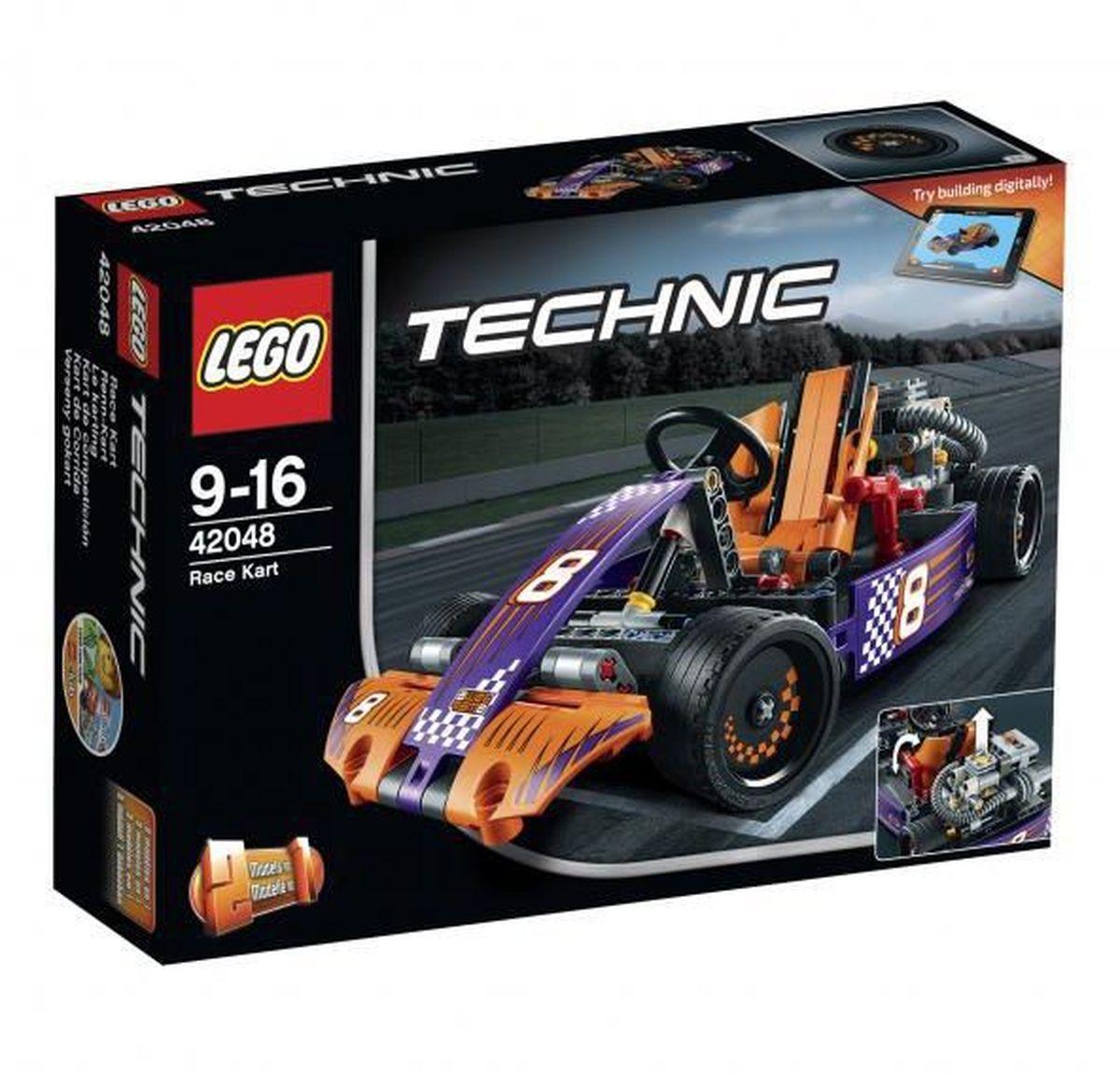 LEGO Technic Конструктор Гоночный карт 4204842048Мчитесь по кругу на этой суперкрутой копии 2-в-1 реального гоночного карта, оснащенной детализированным двигателем с движущимися поршнями, топливным баком и огромными выхлопными трубами. Наклоните обтекаемое оранжевое кресло гонщика, чтобы открыть работающую трансмиссию. Затем забирайтесь в кабину и проверьте на прочность работающий руль, двухскоростную коробку передач и классные педали! Эта ультра-скоростная машина раскрашена в яркие фиолетовый и оранжевый цвета, включает гладкие шины и крутые гоночные наклейки! Перестройте ее в мощный автомобиль для трека. Набор включает в себя 345 разноцветных пластиковых элементов. Конструктор - это один из самых увлекательных и веселых способов времяпрепровождения. Ребенок сможет часами играть с конструктором, придумывая различные ситуации и истории.