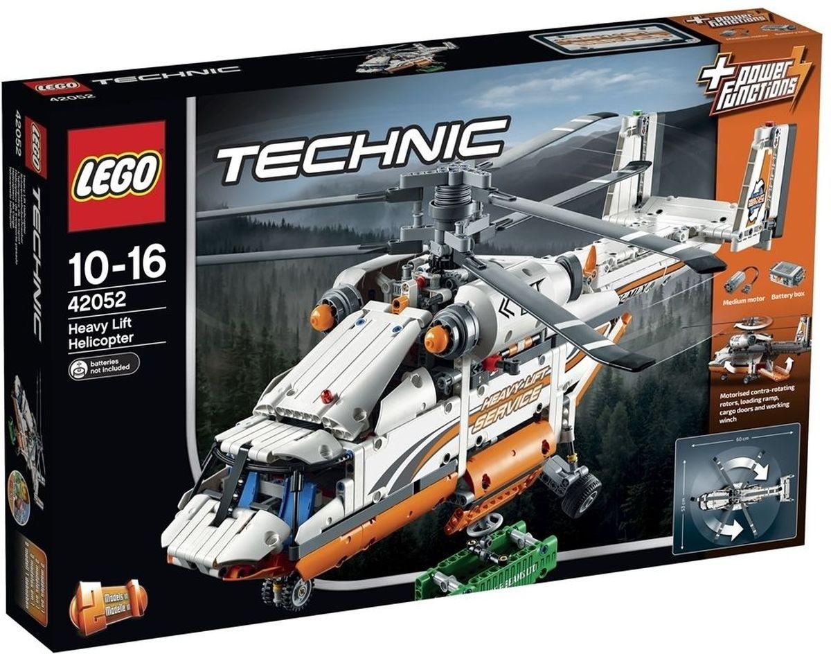 LEGO Technic Конструктор Грузовой вертолет 4205242052Соберите и испытайте замечательный Грузовой вертолет LEGO Technic! Эта огромная, надежная модель 2-в-1 включает аутентичные детали и интересные функции. Активируйте входящий в комплект мотор Power Functions, чтобы привести в действие несущие винты противоположного вращения, спустите грузовую рампу, откройте двери грузового отсека, выдвиньте лебедку и поднимите входящий в набор груз. Эта замечательная модель также включает подвижный хвостовой руль и подъемники, и разнонаправленное носовое колесо... она совсем как настоящая! Модель можно переделать в мощный двухроторный вертолет! Набор включает в себя 1042 разноцветных пластиковых элемента. Конструктор - это один из самых увлекательных и веселых способов времяпрепровождения. Ребенок сможет часами играть с конструктором, придумывая различные ситуации и истории. Необходимо купить 6 батареек напряжением 1,5V типа АА (не входят в комплект).