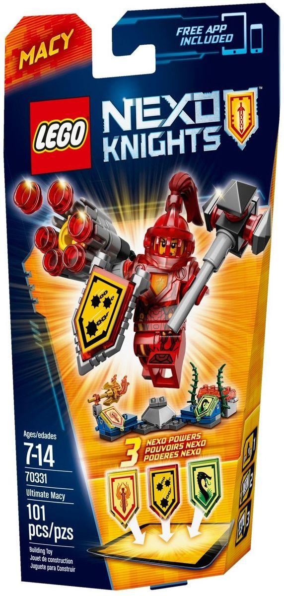 LEGO NEXO KNIGHTS Конструктор Мэйси Абсолютная сила 7033170331Смените придворную суету на жар битвы! Хоть Мэйси Абсолютной силы и принцесса, она знает толк в том, как использовать футуристические NEXO Силы в сражении. Атакуйте Железным Дождем, воспользовавшись 6-снарядной пушкой, рубите Топором Феникса, и пусть враг запутается в лианах Драконьих Джунглей! Улучшите свои боевые навыки, отсканировав щиты для получения 3 NEXO Сил, которые пополнят вашу цифровую коллекцию уникальных способностей и позволят перехитрить шута Джестро и злобных Лава-монстров LEGO NEXO KNIGHTS. Набор включает в себя 101 разноцветный пластиковый элемент. Конструктор - это один из самых увлекательных и веселых способов времяпрепровождения. Ребенок сможет часами играть с конструктором, придумывая различные ситуации и истории.