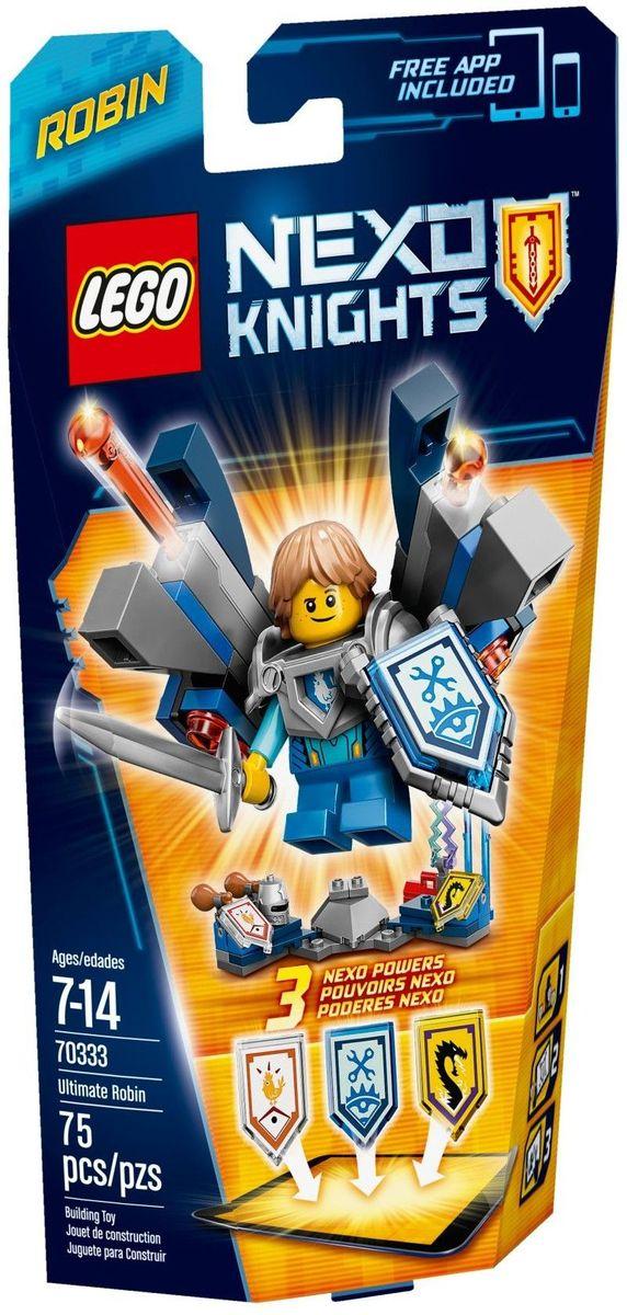 LEGO NEXO KNIGHTS Конструктор Робин Абсолютная сила 7033370333Робин Абсолютной силы пока учится на первом курсе Рыцарской академии, однако его Ultra шит бота не идет в сравнение ни с чем! Его впечатляющая пружинная пушка преобразуется в ноги бота и превращает его в великана. Поразите противников пулями с эффектом удара статическим электричеством или прибегите к хитрости и закидайте врага куриными ножками! Улучшите свои боевые навыки, отсканировав щиты для получения 3 NEXO Сил, которые пополнят вашу цифровую коллекцию уникальных способностей и позволят перехитрить шута Джестро и злобных Лава-монстров LEGO NEXO KNIGHTS. Набор включает в себя 75 разноцветных пластиковых элементов. Конструктор - это один из самых увлекательных и веселых способов времяпрепровождения. Ребенок сможет часами играть с конструктором, придумывая различные ситуации и истории.