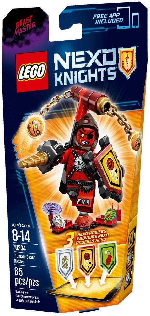 LEGO NEXO KNIGHTS Конструктор Укротитель Абсолютная сила 7033470334У Укротителя Абсолютной силы и так взрывной характер - но на этот раз ему в руки попал динамит! Закидайте противников динамитными шашками или вращайте безумных Глоблинов на цепях! Способность высасывать энергию из врагов добавит вам мощи. Улучшите свои боевые навыки, отсканировав щиты для получения 3 NEXO Сил, которые пополнят вашу цифровую коллекцию уникальных способностей и позволят перехитрить врагов в приложении LEGO NEXO KNIGHTS. Набор включает в себя 65 разноцветных пластиковых элементов. Конструктор - это один из самых увлекательных и веселых способов времяпрепровождения. Ребенок сможет часами играть с конструктором, придумывая различные ситуации и истории.
