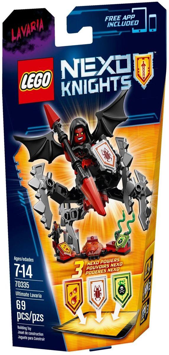 LEGO NEXO KNIGHTS Конструктор Лавария Абсолютная сила 7033570335Кто там прошмыгнул в тени? Лавария Абсолютной силы выискивает жертву, шныряя вокруг на своих пугающих паучьих ногах и крыльях. Набрасывайтесь на врагов, стреляйте огненными шарами из арбалета и напустите на них змей со смертельным ядом! Улучшите свои боевые навыки, отсканировав щиты для получения 3 NEXO Сил, которые пополнят вашу цифровую коллекцию уникальных способностей и позволят перехитрить и привести в ужас врага в приложении LEGO NEXO KNIGHTS. Набор включает в себя 69 разноцветных пластиковых элементов. Конструктор - это один из самых увлекательных и веселых способов времяпрепровождения. Ребенок сможет часами играть с конструктором, придумывая различные ситуации и истории.