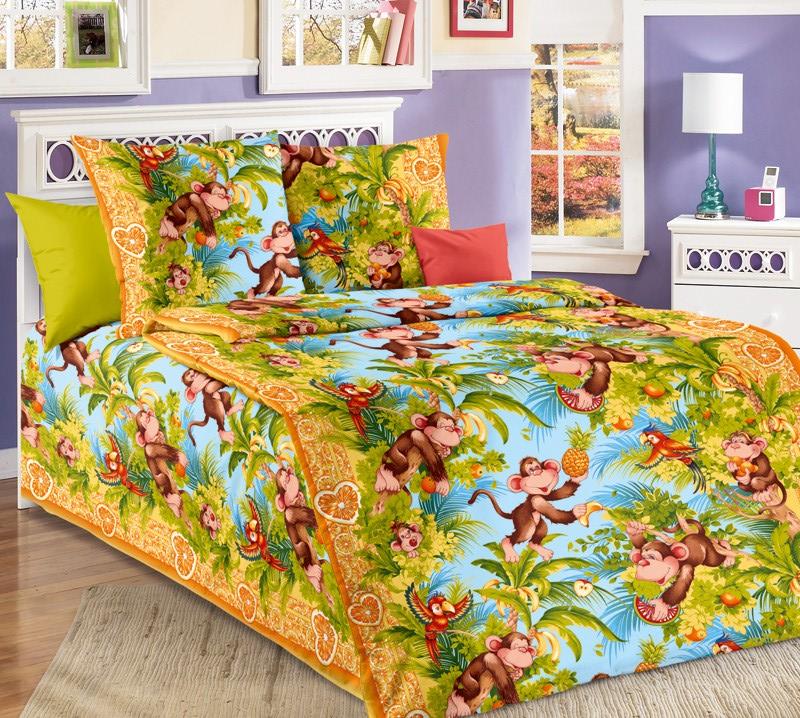 ТексДизайн Комплект детского постельного белья Обезьянки 1,5-спальный