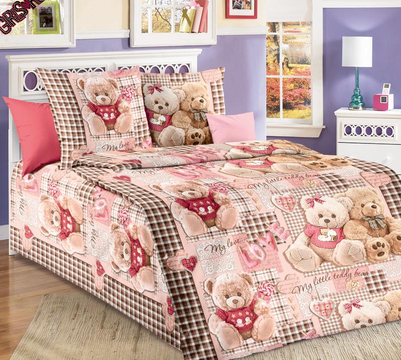 ТексДизайн Комплект детского постельного белья Плюшевые мишки 1,5-спальный1100АКомплект детского постельного белья Плюшевые мишки, состоящий из двух наволочек, простыни и пододеяльника, выполнен из прочной бязи. Комплект постельного белья украшен изображениями симпатичных плюшевых медвежат. Сегодня компания Текс-Дизайн является крупнейшим поставщиком эксклюзивной набивной бязи. Вся ткань изготовлена из 100% хлопка. Бязь - хлопчатобумажная плотная ткань полотняного переплетения. Отличается прочностью и стойкостью к многочисленным стиркам. Бязь считается одной из наиболее подходящих тканей, для производства постельного белья и пользуется в России большим спросом. Фирменная продукция отличается оригинальным дизайном, высокой прочностью и долговечностью. Такой комплект идеально подойдет для кроватки вашего малыша. На нем ребенок будет спать здоровым и крепким сном.