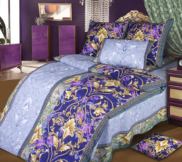 Комплект белья Белиссимо Шик 1, 1,5-спальный, наволочки 70х70, цвет: голубой, фиолетовый, бежевый1100АВеликолепное постельное белье Белиссимо Шик 1 выполнено из высококачественной бязи (100% хлопок) и украшено роскошным рисунком. Комплект состоит из пододеяльника, простыни и двух наволочек. Бязь - хлопчатобумажная плотная ткань полотняного переплетения. Отличается прочностью и стойкостью к многочисленным стиркам. Бязь считается одной из наиболее подходящих тканей, для производства постельного белья и пользуется в России большим спросом.