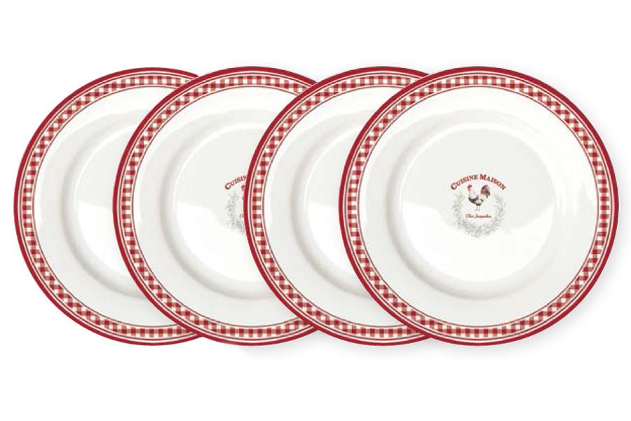 Набор из 4-х десертных тарелок Французская кухня. R2S924/CUSI-ALR2S924/CUSI-ALВся продукция производится из современных и экологически чистых материалов: фарфора, стекла, пластика и дерева. Продукция компании «NUOVA R2S» отличается современным дизайном, и легкостью в эксплуатации. Компания работает в тесном сотрудничестве с лучшими итальянскими художниками и дизайнерами. Важным преимуществом этой фабрики, является оригинальная подарочная упаковка. Продукция компании «NUOVA R2S» не только современный подарок и украшение для Вашего дома, но и всегда неисчерпаемое количество идей на Вашей кухне.