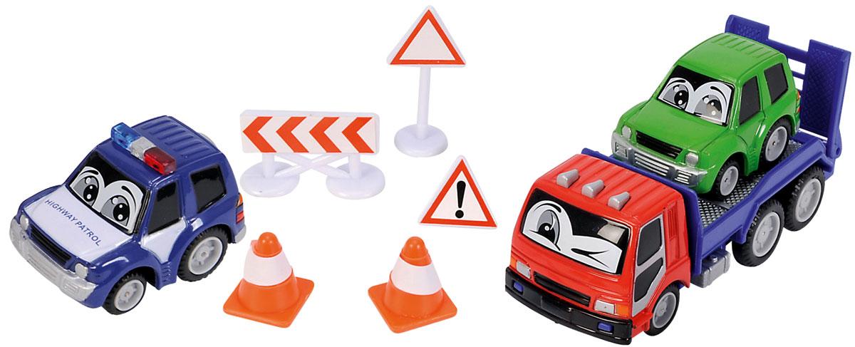 Dickie Toys Набор дорожной техники цвет кабины эвакуатора красный