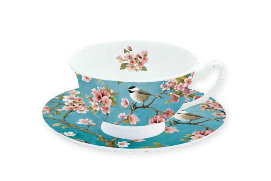 Чайная пара Nuova R2S Сакура, 2 предметаR2S322/BLOS-ALЧайная пара Nuova R2S Сакура состоит из чашки и блюдца, изготовленных из высококачественного фарфора. Изделия оформлены изображением цветов и имеют изысканный внешний вид. Такой набор прекрасно дополнит сервировку стола к чаепитию и подчеркнет ваш безупречный вкус. Объем чашки: 180 мл.