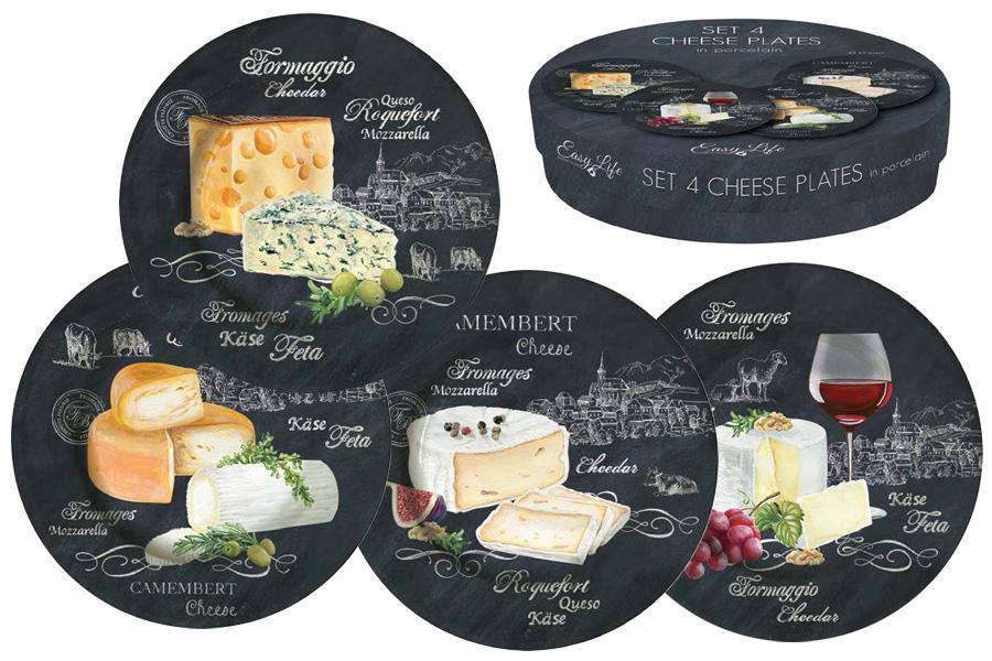 Набор из 4-х десертных тарелок Мир сыров. R2S463/WOCH-ALR2S463/WOCH-ALВся продукция производится из современных и экологически чистых материалов: фарфора, стекла, пластика и дерева. Продукция компании «NUOVA R2S» отличается современным дизайном, и легкостью в эксплуатации. Компания работает в тесном сотрудничестве с лучшими итальянскими художниками и дизайнерами. Важным преимуществом этой фабрики, является оригинальная подарочная упаковка. Продукция компании «NUOVA R2S» не только современный подарок и украшение для Вашего дома, но и всегда неисчерпаемое количество идей на Вашей кухне.