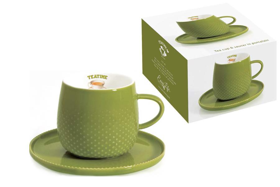 Чашка с блюдцем темно-зеленая Капли дождя. R2S1307/RATE-ALR2S1307/RATE-ALВся продукция производится из современных и экологически чистых материалов: фарфора, стекла, пластика и дерева. Продукция компании «NUOVA R2S» отличается современным дизайном, и легкостью в эксплуатации. Компания работает в тесном сотрудничестве с лучшими итальянскими художниками и дизайнерами. Важным преимуществом этой фабрики, является оригинальная подарочная упаковка. Продукция компании «NUOVA R2S» не только современный подарок и украшение для Вашего дома, но и всегда неисчерпаемое количество идей на Вашей кухне.