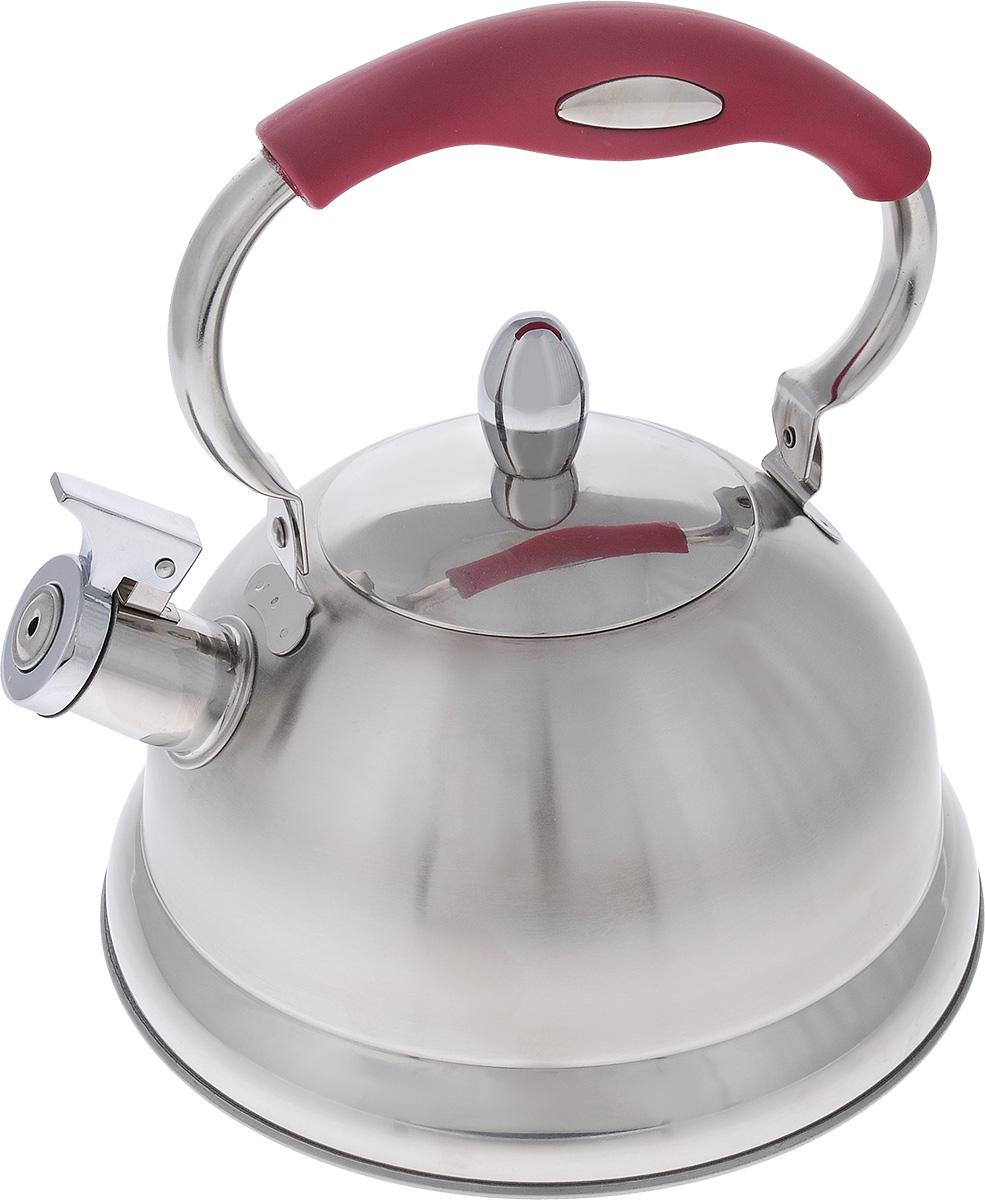 Чайник Mayer & Boch, со свистком, 3 л. 2142121421Чайник со свистком Mayer & Boch изготовлен из высококачественной нержавеющей стали, что обеспечивает долговечность использования. Капсульное дно обеспечивает равномерный и быстрый нагрев, поэтому вода закипает гораздо быстрее, чем в обычных чайниках. Носик чайника оснащен откидным свистком, звуковой сигнал которого подскажет, когда закипит вода. Чайник оснащен удобной ручкой с красной силиконовой накладкой. Чайник Mayer & Boch - качественное исполнение и стильное решение для вашей кухни. Подходит для всех типов плит, включая индукционные. Можно мыть в посудомоечной машине. Высота чайника (без учета ручки и крышки): 12,5 см. Высота чайника (с учетом ручки и крышки): 23 см. Диаметр чайника (по верхнему краю): 10 см.