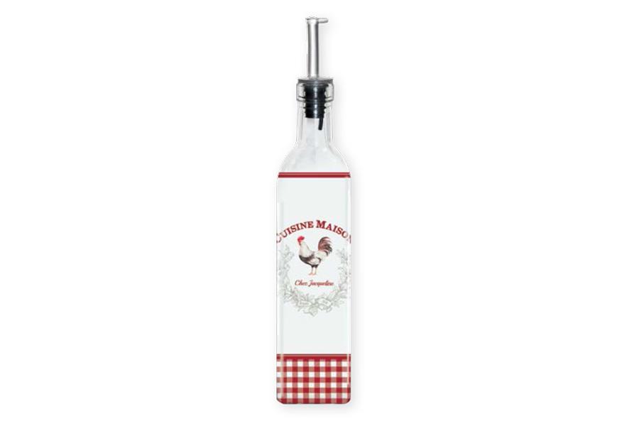 Бутылка для масла стеклянная Французская кухня. R2SBOT500/CUSI-ALR2SBOT500/CUSI-ALВся продукция производится из современных и экологически чистых материалов: фарфора, стекла, пластика и дерева. Продукция компании «NUOVA R2S» отличается современным дизайном, и легкостью в эксплуатации. Компания работает в тесном сотрудничестве с лучшими итальянскими художниками и дизайнерами. Важным преимуществом этой фабрики, является оригинальная подарочная упаковка. Продукция компании «NUOVA R2S» не только современный подарок и украшение для Вашего дома, но и всегда неисчерпаемое количество идей на Вашей кухне.