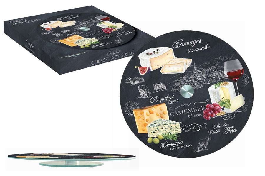 Блюдо Nuova R2S Мир сыров, вращающееся, диаметр 32 смR2S441/WOCH-ALВращающееся блюдо Nuova R2S Мир сыров, изготовленное из прочного стекла, оформлено красочными изображениями. Изысканное блюдо прекрасно подойдет для подачи сырной нарезки, холодных и горячих закусок, бутербродов и других блюд. Благодаря яркому дизайну и качеству исполнения блюдо Nuova R2S Мир сыров станет украшением праздничного стола и подчеркнет ваш безупречный вкус. Диаметр блюда: 32 см.