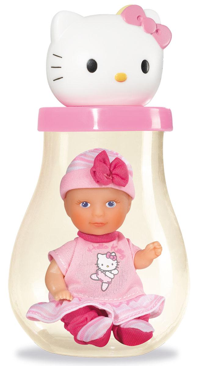 Simba Пупс Hello Kitty в банке цвет светло-розовый5013363_св-розПупс Simba Hello Kitty непременно приведет в восторг вашу дочурку. Голова пупса выполнена из прочного пластика, а тело - мягконабивное. Очаровательный малыш одет в рубашку розового цвета, оформленную принтом с изображением кошечки Китти, а на голове у него - розовый чепчик. Рубашка фиксируется при помощи липучки на спинке. Пупс упакован в оригинальную пластиковую бутылочку. Трогательный пупс принесет радость и подарит своей обладательнице мгновения нежных объятий. Игры с куклами способствуют эмоциональному развитию, помогают формировать воображение и художественный вкус, а также разовьют в вашей малышке чувство ответственности и заботы. Великолепное качество исполнения делают эту куколку чудесным подарком к любому празднику.