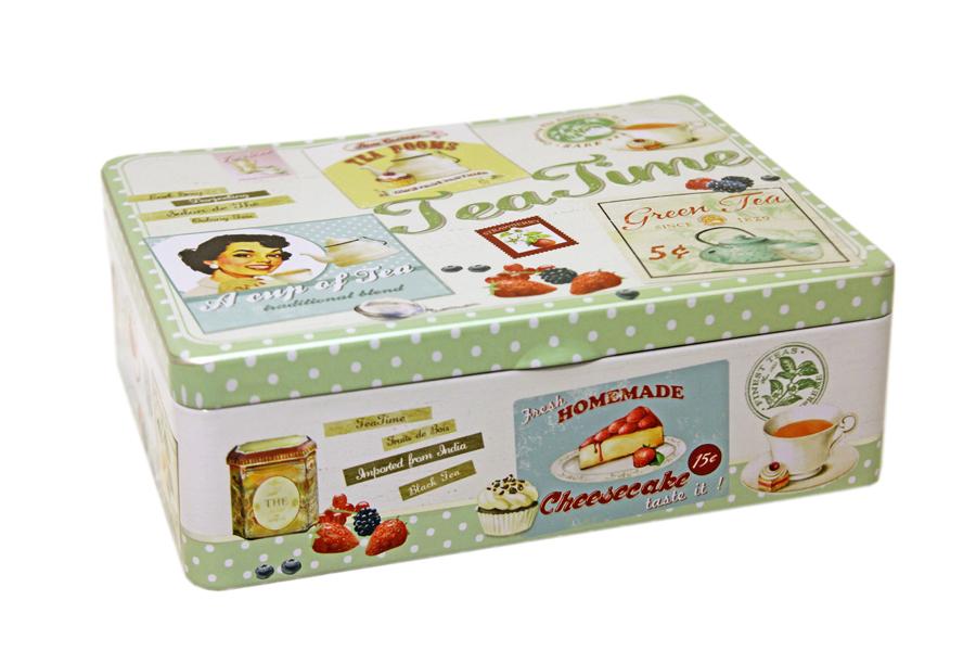 Коробка для чайных пакетиков Nuova R2S Винтаж, 20,5 х 16 х 7 смR2S079/VHTE-ALКоробка для чайных пакетиков Nuova R2S Винтаж изготовлена из металла с декором в винтажном стиле. Такая коробка отлично дополнит коллекцию ваших кухонных аксессуаров и порадует вас оригинальным дизайном.