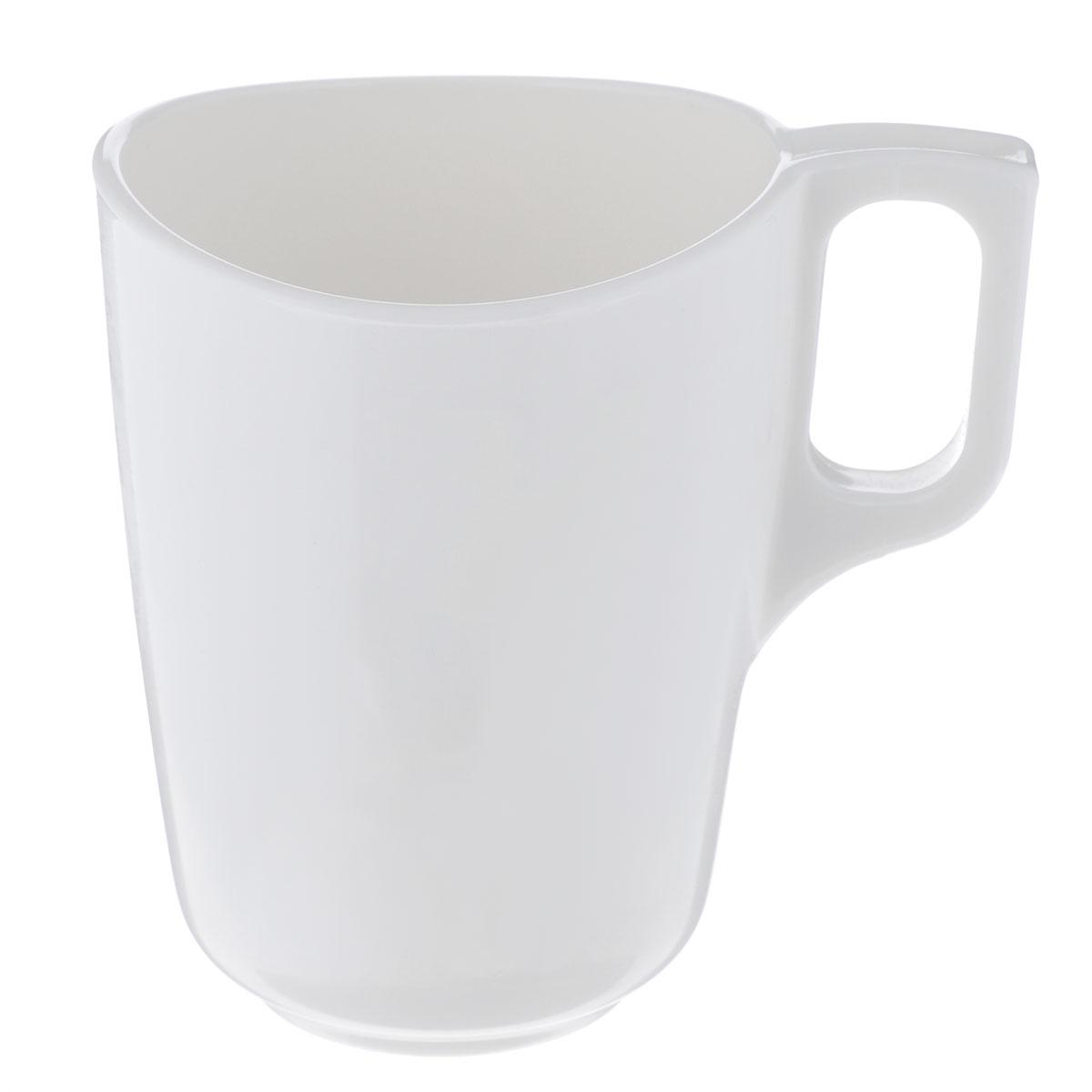 Кружка Luminarc Volare, цвет: белый, 300 млH5861Кружка Luminarc Volare изготовлена из упрочненного стекла. Такая кружка прекрасно подойдет для горячих и холодных напитков. Она дополнит коллекцию вашей кухонной посуды и будет служить долгие годы. Можно использовать в посудомоечной машине и СВЧ. Объем кружки: 300 мл. Диаметр кружки (по верхнему краю): 8 см. Диаметр дна: 4,5 см. Высота кружки: 10 см.