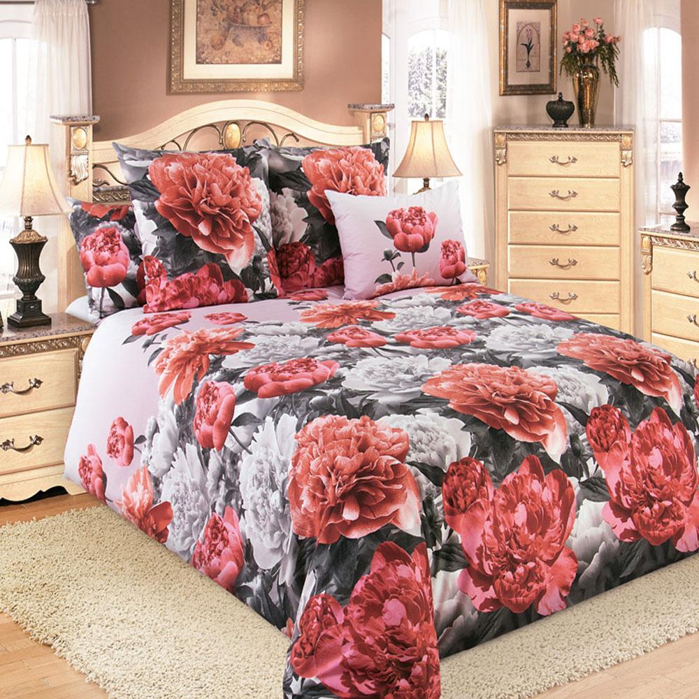 Комплект белья ТексДизайн Пионы, 2-спальный, наволочки 70х70, цвет: розовый, серый. 2200П2200ПКомплект постельного белья ТексДизайн Пионы изготовлен из перкаля (100% хлопка) наивысшего класса. Изделие из перкали плотное и с матовой поверхностью, очень прочное в обращении и своим видом наполняет любую спальню мягкостью и уютом. Перкаль не дает проходить перьям и пуху, что является хорошим свойством для пошива комплектов постельного белья, а из-за своей толщины и износостойкости из этого материала шьются парашюты и паруса. Теплое и нежное постельное белье ТексДизайн Пионы всегда будет кстати в вашем доме.
