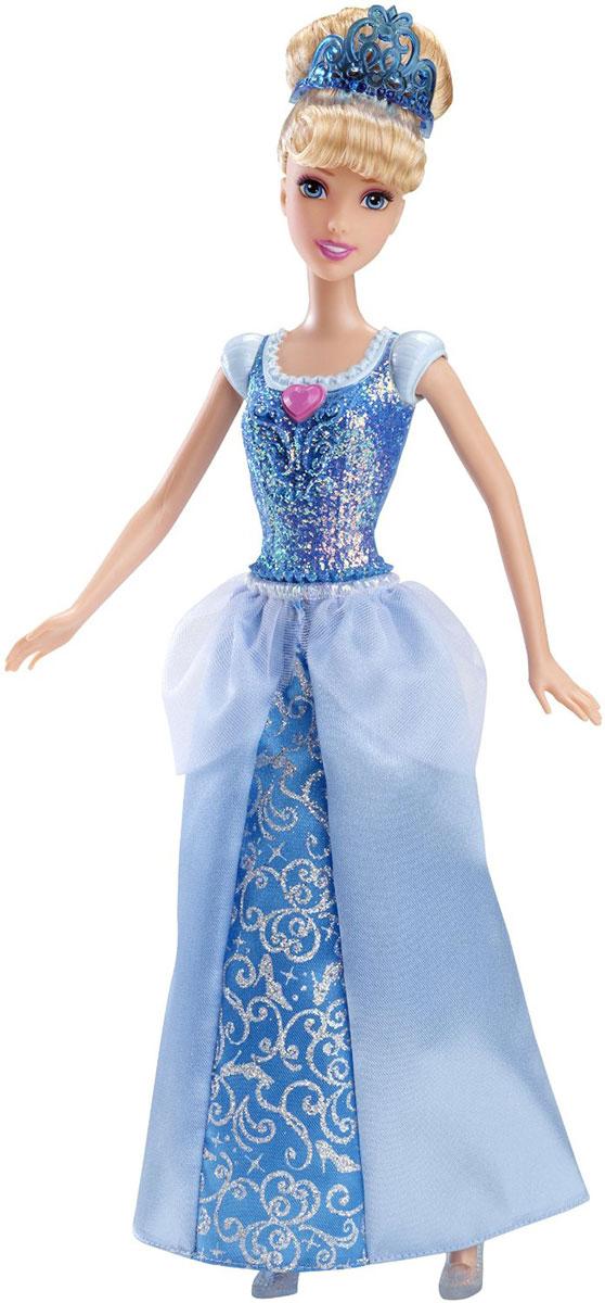 Disney Princess Кукла Принцесса ЗолушкаCFB82_CFB72Кукла Disney Princess Принцесса Золушка - невероятно интересная и эффектная игрушка для всех поклонниц мультфильма! Верхняя часть бального платья таинственно переливается. Густые золотые волосы куклы Золушки убраны в высокую прическу, как в мультфильме, а держит ее голубая диадема. На кукле полупрозрачные туфельки в тон к платью. Изделие выполнено из прочного и безопасного материала. Ваша малышка с удовольствием будет играть с этой куколкой, проигрывая сюжеты из мультфильма или придумывая различные истории.