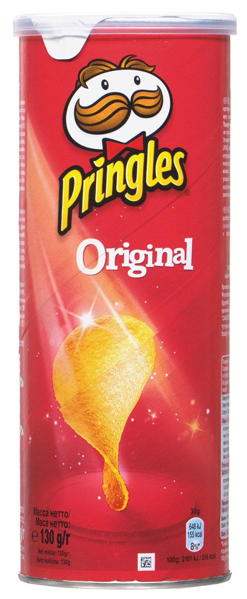 Pringles Original картофельные чипсы, 130 г7000446000Настоящий, оригинальный вкус чипсов Pringles. Это классика - идеальная форма, совершенный вкус!