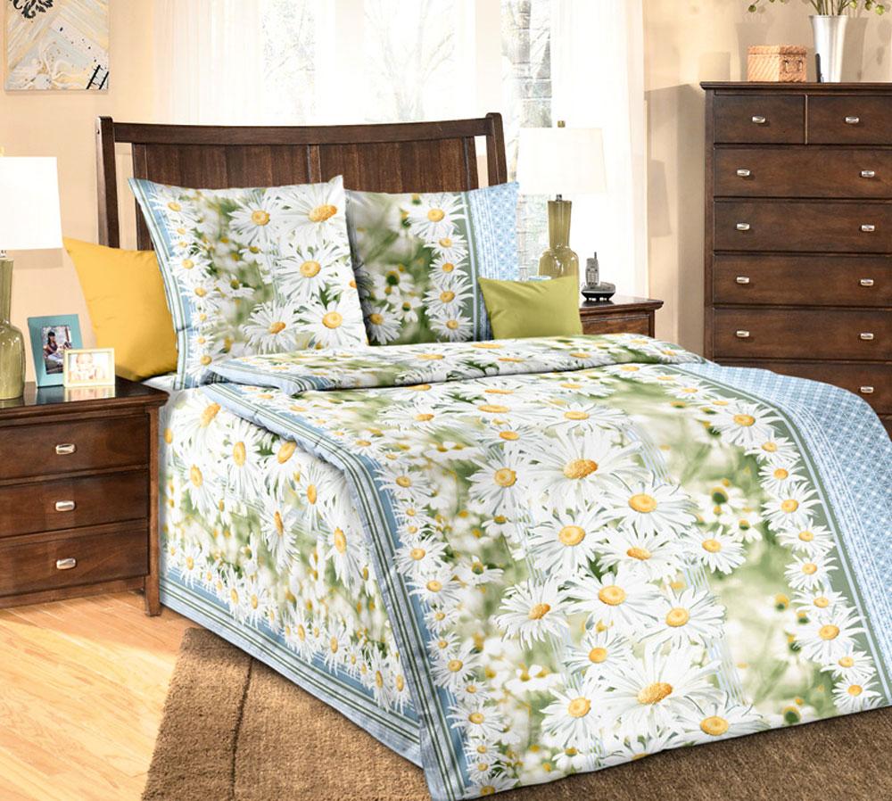 Комплект белья БеЛиссимо Раздолье, 1,5-спальный, наволочки 70х70, цвет: белый, зеленый, голубой1100АКомплект постельного белья БеЛиссимо Раздолье является экологически безопасным для всей семьи, так как выполнен из натурального хлопка. Комплект состоит из пододеяльника, простыни и двух наволочек. Постельное белье оформлено оригинальным цветочным 3D рисунком и имеет изысканный внешний вид. Для производства постельного белья используются экологичные ткани высочайшего качества. Бязь - хлопчатобумажная плотная ткань полотняного переплетения. Отличается прочностью и стойкостью к многочисленным стиркам. Бязь считается одной из наиболее подходящих тканей, для производства постельного белья и пользуется в России большим спросом. Коллекция эксклюзивных дизайнов БеЛиссимо - это яркое настроение интерьера вашей спальни. Натуральная ткань (бязь, 100% хлопок) и отличный пошив комплектов - залог вашего комфортного здорового сна.