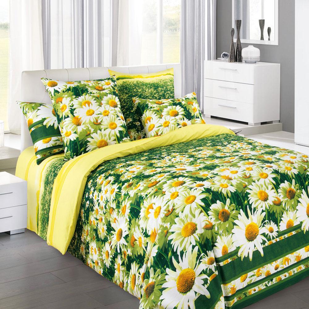 Комплект белья БеЛиссимо Простор, 2-спальный, наволочки 70х70, цвет: желтый, зеленый, белый. 2100Б2100БКомплект постельного белья БеЛиссимо Простор является экологически безопасным для всей семьи, так как выполнен из натурального хлопка. Комплект состоит из пододеяльника, простыни и двух наволочек. Постельное белье оформлено оригинальным цветочным 3D рисунком и имеет изысканный внешний вид. Для производства постельного белья используются экологичные ткани высочайшего качества. Бязь - хлопчатобумажная плотная ткань полотняного переплетения. Отличается прочностью и стойкостью к многочисленным стиркам. Бязь считается одной из наиболее подходящих тканей, для производства постельного белья и пользуется в России большим спросом. Коллекция эксклюзивных дизайнов БеЛиссимо - это яркое настроение интерьера вашей спальни. Натуральная ткань (бязь, 100% хлопок) и отличный пошив комплектов - залог вашего комфортного здорового сна.