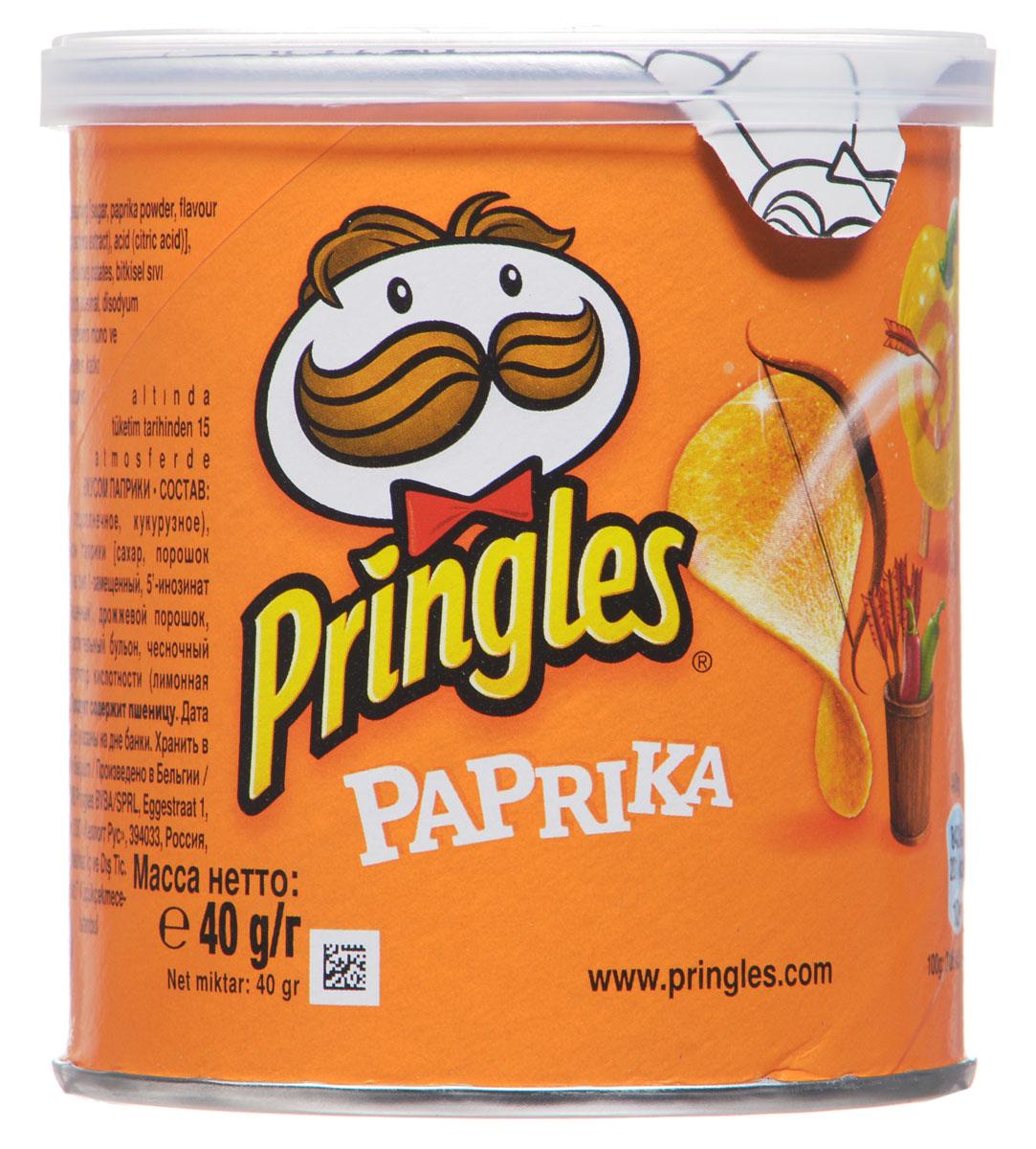 Pringles картофельные чипсы со вкусом паприки, 40 г