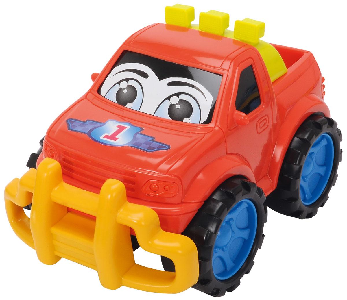 Dickie Toys Машинка Happy Runner цвет красный3315230_красныйМашинка Dickie Toys  Happy Runner обязательно понравится вашему маленькому гонщику и надолго увлечет его. Яркая и красочная машинка выполнена из безопасного пластика и оформлена стикерами с изображением глазок. Увеличенные размеры делают эту игрушку удобной и безопасной даже для самых маленьких малышей, с ней можно играть не только дома, но и на улице. Рельефные колесики машинки обеспечат наилучшее сцепление с поверхностью пола. Игры с такой машинкой развивают концентрацию внимания, координацию движений, мелкую и крупную моторику, цветовое восприятие и воображение. Малыш будет часами играть с этой машинкой, придумывая разные истории и разыгрывая веселые сценки.