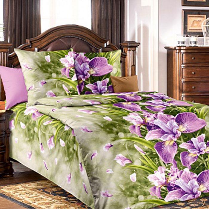 Комплект белья БеЛиссимо Анастасия, 1,5-спальный, наволочки 70х70, цвет: зеленый, фиолетовый. 1100А1100АКомплект постельного белья БеЛиссимо Анастасия является экологически безопасным для всей семьи, так как выполнен из натурального хлопка. Комплект состоит из пододеяльника, простыни и двух наволочек. Постельное белье оформлено оригинальным цветочным 3D рисунком и имеет изысканный внешний вид. Для производства постельного белья используются экологичные ткани высочайшего качества. Бязь - хлопчатобумажная плотная ткань полотняного переплетения. Отличается прочностью и стойкостью к многочисленным стиркам. Бязь считается одной из наиболее подходящих тканей, для производства постельного белья и пользуется в России большим спросом. Коллекция эксклюзивных дизайнов БеЛиссимо - это яркое настроение интерьера вашей спальни. Натуральная ткань (бязь, 100% хлопок) и отличный пошив комплектов - залог вашего комфортного здорового сна.
