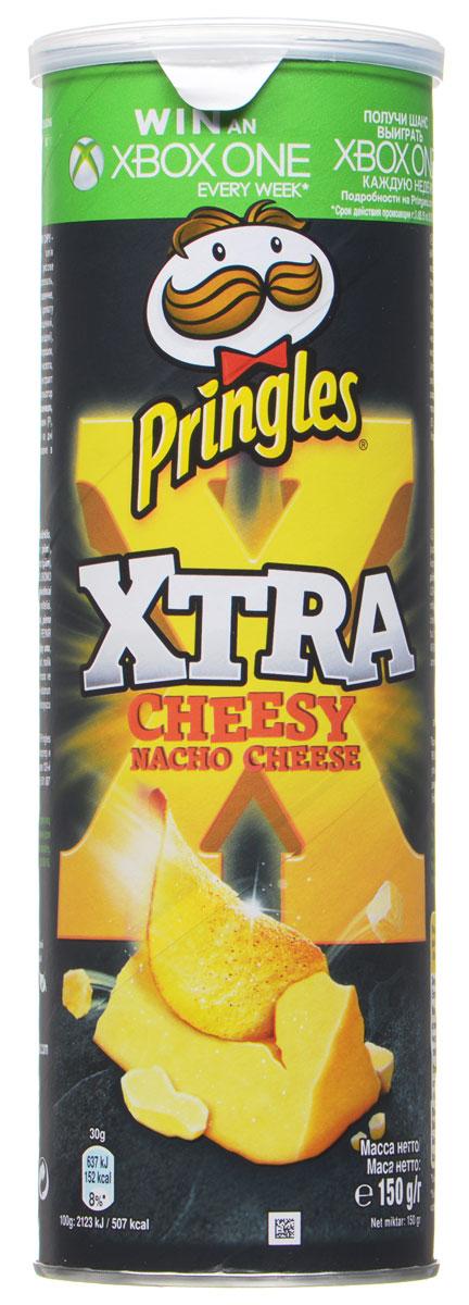 Pringles Xtra картофельные чипсы Cырные начос, 150 г7000409000Картофельные чипсы Pringles Xtra со вкусом сыра Начо подарят вам невероятный вкус суперсырных начос.