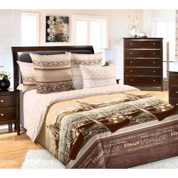 Комплект белья 3D ТексДизайн Венеция, 2-спальный, наволочки 70х70, цвет: коричневый, бежевый. 2250П2250ПКомплект постельного белья 3D ТексДизайн Венеция изготовлен из перкаля (100% хлопка) наивысшего класса. Изделие из перкали плотное и с матовой поверхностью, очень прочное в обращении и своим видом наполняет любую спальню мягкостью и уютом. Перкаль не дает проходить перьям и пуху, что является хорошим свойством для пошива комплектов постельного белья, а из-за своей толщины и износостойкости из этого материала шьются парашюты и паруса. Теплое и нежное постельное белье ТексДизайн Венеция всегда будет кстати в вашем доме.