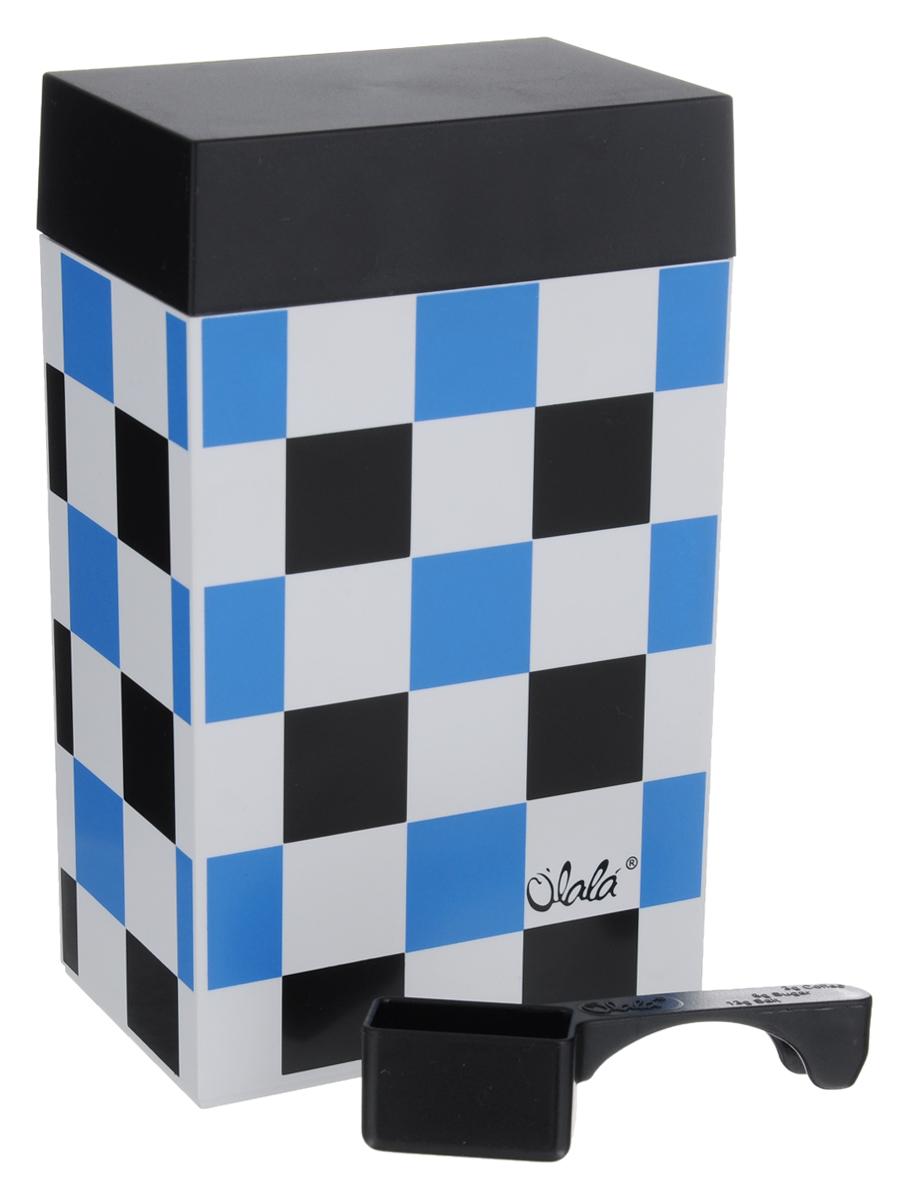 Контейнер для хранения Olala, цвет: белый, черный, голубой, 600 мл317Прямоугольный контейнер Olala предназначен специально для хранения пищевых продуктов. Он выполнен из высококачественного пластика. Крышка легко и плотно закрывается. Контейнер устойчив к воздействию масел и жиров, легко моется. В комплекте прилагается мерная ложечка. Объем контейнера: 600 мл. Размер контейнера: 10 см х 6,5 см х 16 см.