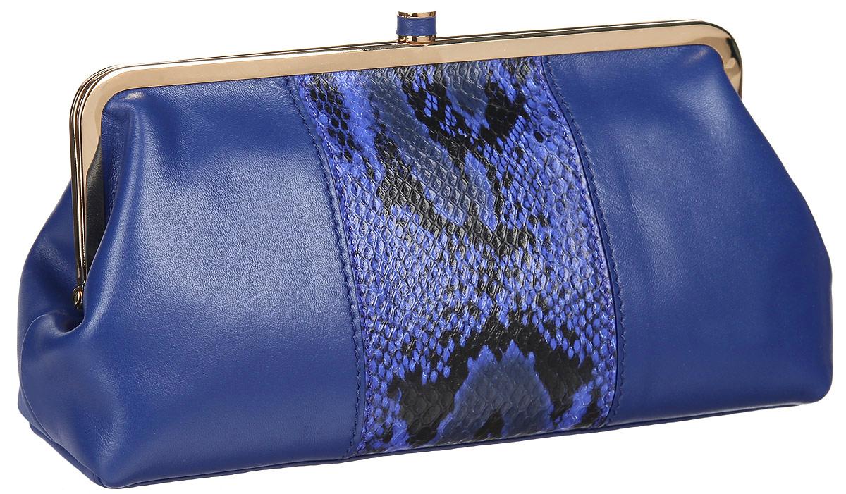Косметичка Leo Ventoni, цвет: синий. L330910L330910-blueЭлегантная косметичка Leo Ventoni выполнена из натуральной кожи и оформлена контрастной кожаной вставкой с тиснением под рептилию. Изделие содержит одно вместительное отделение и закрывается на рамочный замок. Внутри косметички расположены: накладной карман и врезной карман на застежке-молнии. Косметичка Leo Ventoni станет незаменимым аксессуаром, который понравится любой девушке.