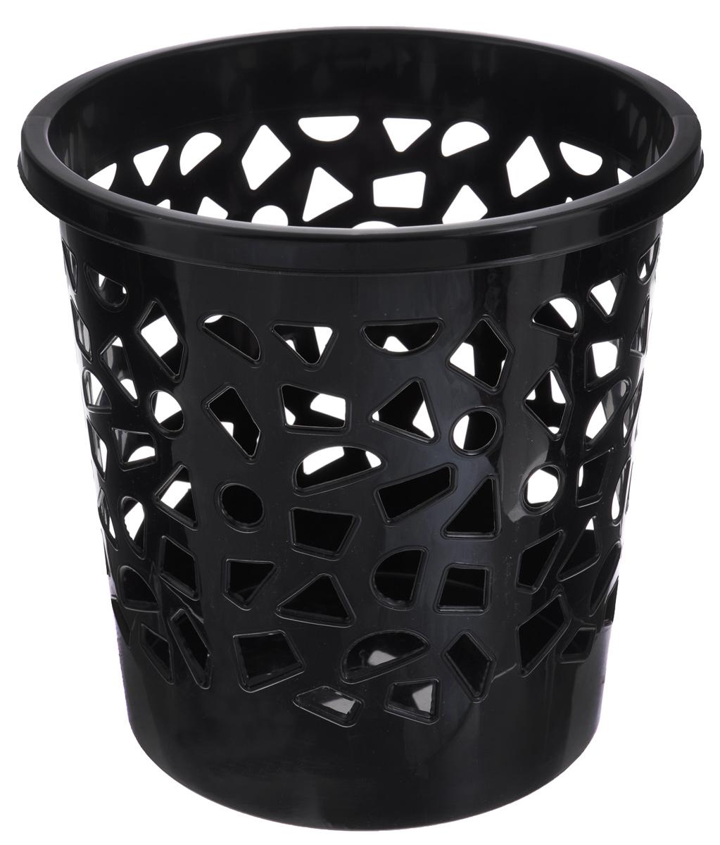 Корзина для мусора Бытпласт, цвет: черный, высота 26 смС12431_черныйКорзина для мусора Бытпласт, изготовлена из высококачественного пластика. Вы можете использовать ее для выбрасывания разных пищевых и не пищевых отходов. Корзина имеет отверстия на стенках и сплошное дно. Корзина для мусора поможет содержать ваше рабочее место в порядке. Диаметр (по верхнему краю): 26 см. Высота: 26 см.