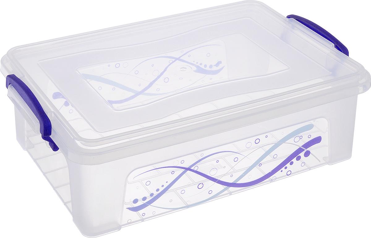 Контейнер Dunya Plastik Clear Box, цвет: прозрачный, синий, 3,75 л30253_прозрачный, синийКонтейнер Dunya Plastik Clear Box выполнен из прочного пластика. Он предназначен для хранения различных мелких вещей. Крышка легко открывается и плотно закрывается. Прозрачные стенки позволяют видеть содержимое. По бокам предусмотрены две удобные ручки, с помощью которых контейнер закрывается. Контейнер поможет хранить все в одном месте, а также защитить вещи от пыли, грязи и влаги.