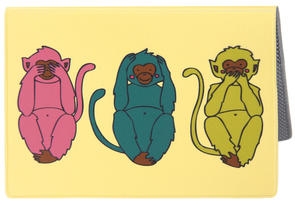 Обложка для паспорта Три мудрых обезьяны на светло-желтом. OZAM387OZAM387Яркая обложка для паспорта Mitya Veselkov Три мудрых обезьяны на светло-желтом выполнена из поливинилхлорида и оформлена принтом с изображением разноцветных обезьянок. Изделие раскладывается пополам. Внутри расположены два накладных кармана. Обложка для паспорта поможет сохранить внешний вид ваших документов и защитить их от повреждений, а также станет стильным аксессуаром, который подчеркнет ваш образ.