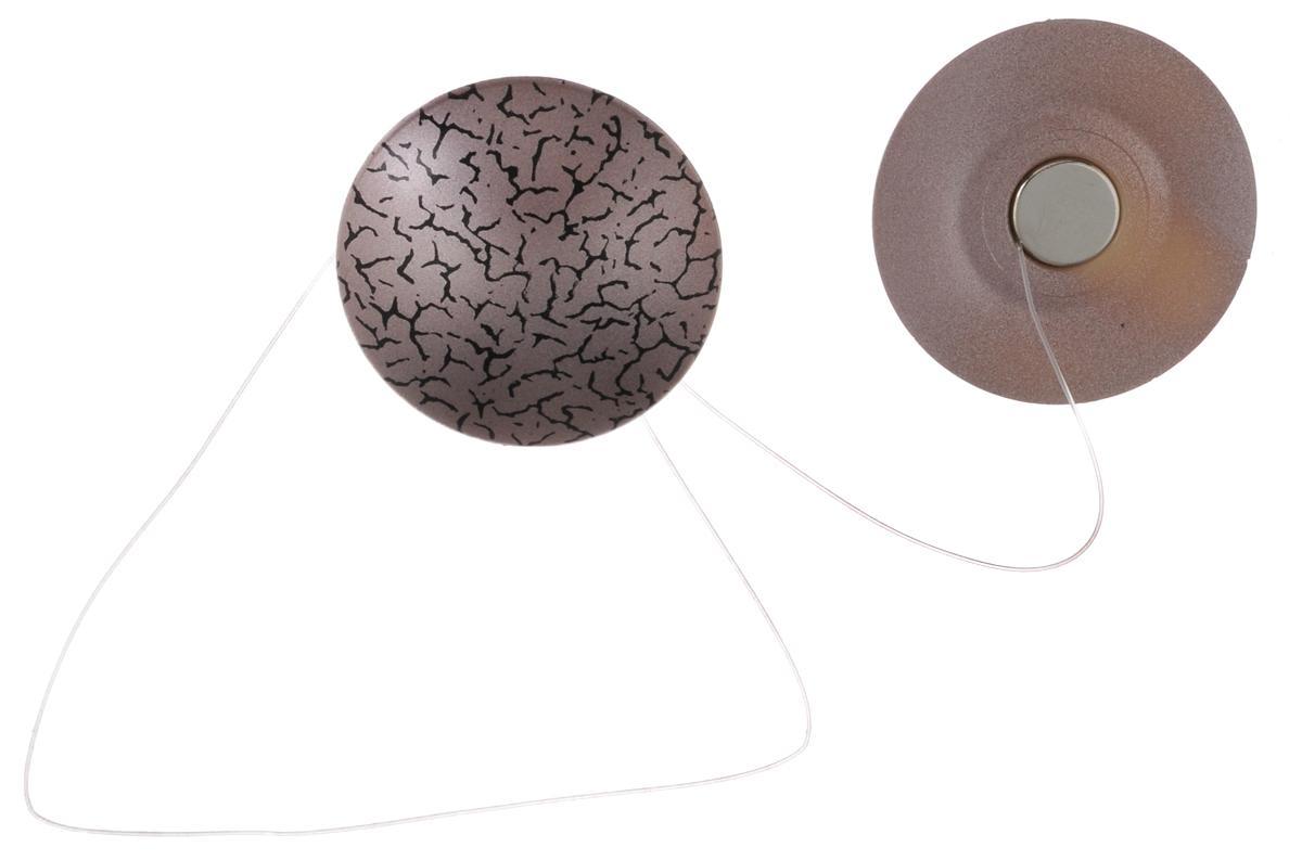 Клипсы магнитные для штор SmolTtx Мелкие трещины, с леской, цвет: сиреневый, длина 33,5 см, 2 шт544091_21ДМагнитные клипсы SmolTtx Мелкие трещины предназначены для придания формы шторам. Изделие представляет собой соединенные леской два элемента, на внутренней поверхности которых расположены магниты. С помощью такой клипсы можно зафиксировать портьеры, придать им требуемое положение, сделать складки симметричными или приблизить портьеры, скрепить их. Следует отметить, что такие аксессуары для штор выполняют не только практическую функцию, но также являются одной из основных деталей декора, которая придает шторам восхитительный, стильный внешний вид. Длина клипсы (с учетом лески): 33,5 см. Диаметр клипсы: 3,5 см.