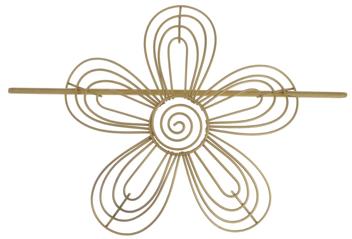 Заколка для штор Мир Мануфактуры, цвет: золотистый. 697018697018_1 золотистыйЗаколка для штор Мир Мануфактуры выполнена из металла в виде цветка. Заколка - это основной вид фурнитуры в декоре штор, сочетающий в себе не только декоративную функцию, но и практическую - регулировать поток света. Заколки для штор способны украсить любую комнату. Размер декоративной части: 16 см х 16,3 см. Длина палочки: 23 см.