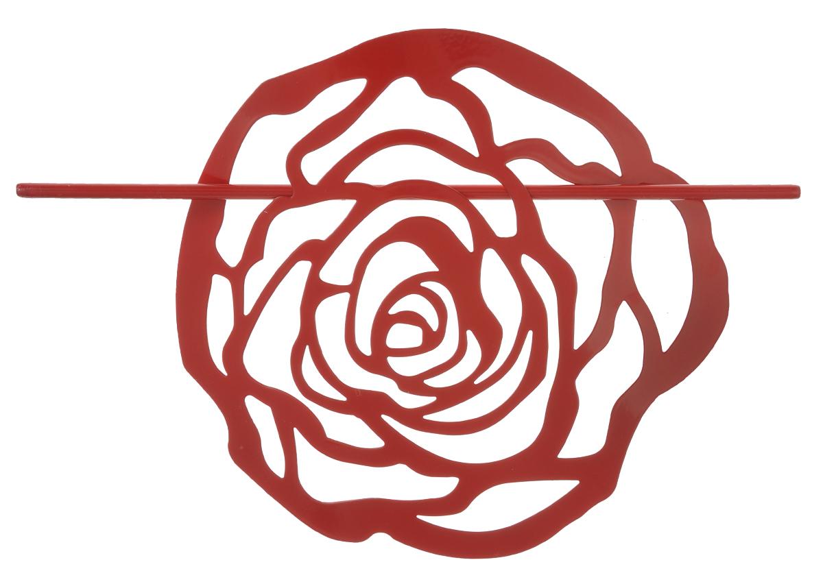 Заколка для штор Мир Мануфактуры, цвет: красный697020_3 красныйЗаколка Мир Мануфактуры, выполненная из высококачественного металла, предназначена для фиксации штор или для формирования декоративных складок на ткани. С ее помощью можно зафиксировать шторы или скрепить их, придать им требуемое положение, сделать симметричные складки. Заколка для штор является универсальным изделием, которое превосходно подойдет для любых видов штор. Заколка придаст шторам восхитительный, стильный внешний вид и добавит уют в интерьер помещения. Размер декоративного элемента: 16,5 см х 16,2 см. Длина палочки: 23 см.