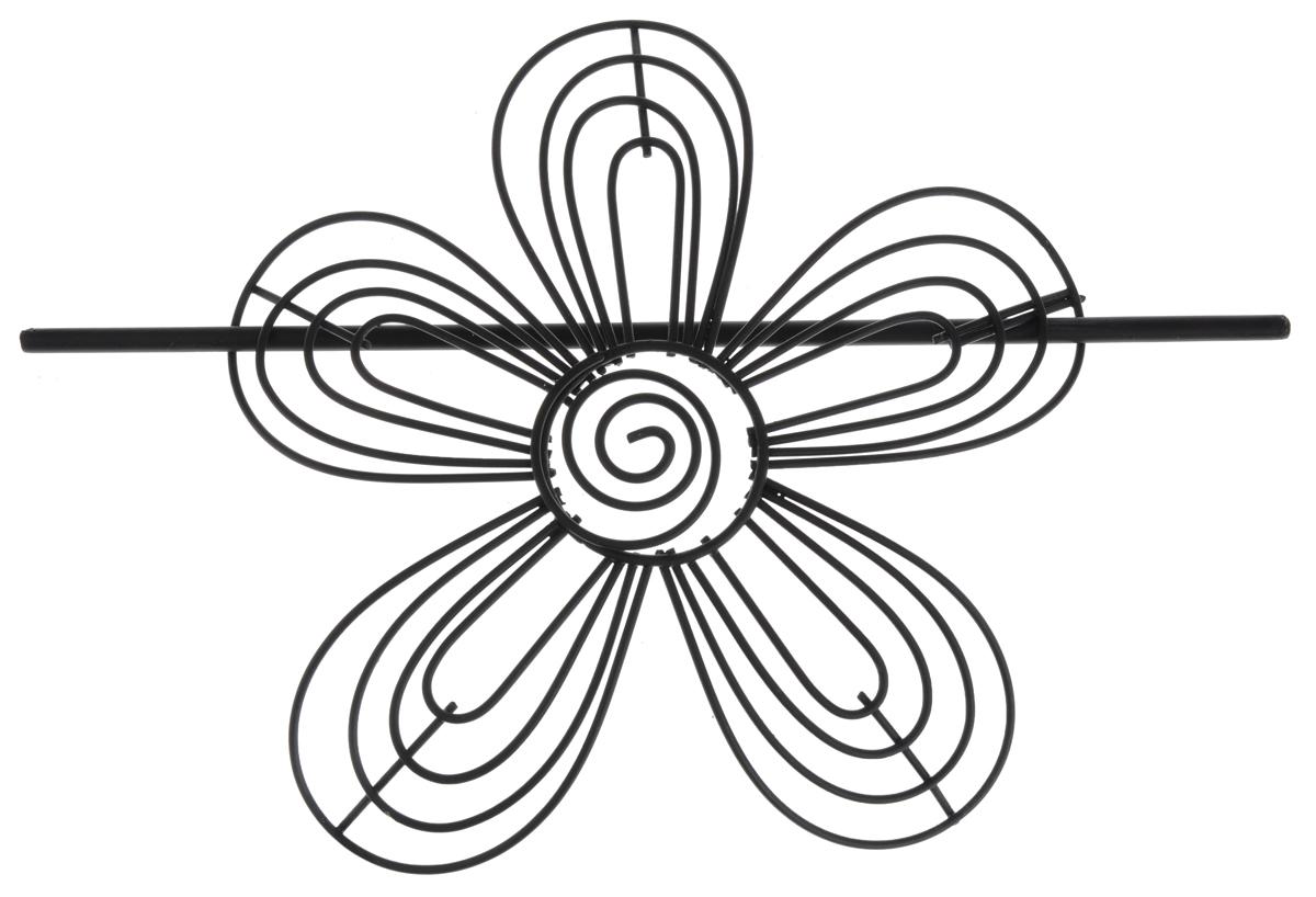 Заколка для штор Мир Мануфактуры, цвет: черный