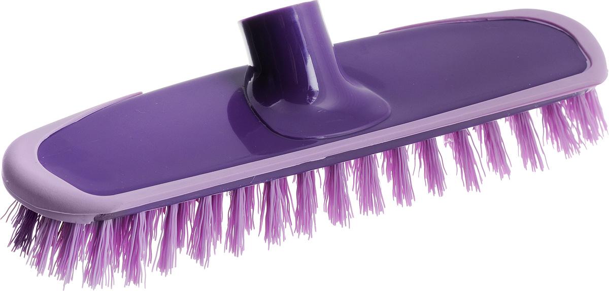 Щетка-скраббер York Prestige, без ручки, цвет: фиолетовый, сиреневый, 25 х 6,5 х 7,2 см4304Щетка-скраббер York Prestige, изготовленная из полипропилена и ПЭТ (полиэтилентерефталат), предназначена для уборки в доме и на улице. Изделие оснащено специальной резиновой накладкой, которая защищает от механических повреждений стены и лестницы во время уборки. Она имеет два типа щетинок, которые удаляют как легкие загрязнения, так и твердую грязь. Щетка-скраббер York Prestige сделает уборку эффективнее и приятнее, не вызывая усталости. Длина ворса: 2,5 см.