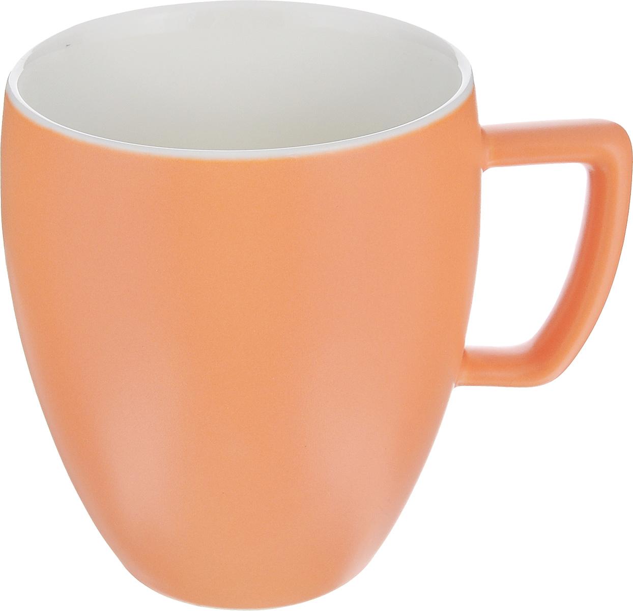 Кружка Tescoma Crema Tone, цвет: оранжевый, 300 мл387146_оранжевыйКружка Tescoma Crema Tone, изготовленная из высококачественного фарфора, прекрасно дополнит интерьер вашей кухни. Изящный дизайн кружки придется по вкусу и ценителям классики, и тем, кто предпочитает утонченность и изысканность. Кружка Tescoma Crema Tone станет хорошим подарком к любому празднику. Диаметр (по верхнему краю): 8 см. Высота: 10 см.