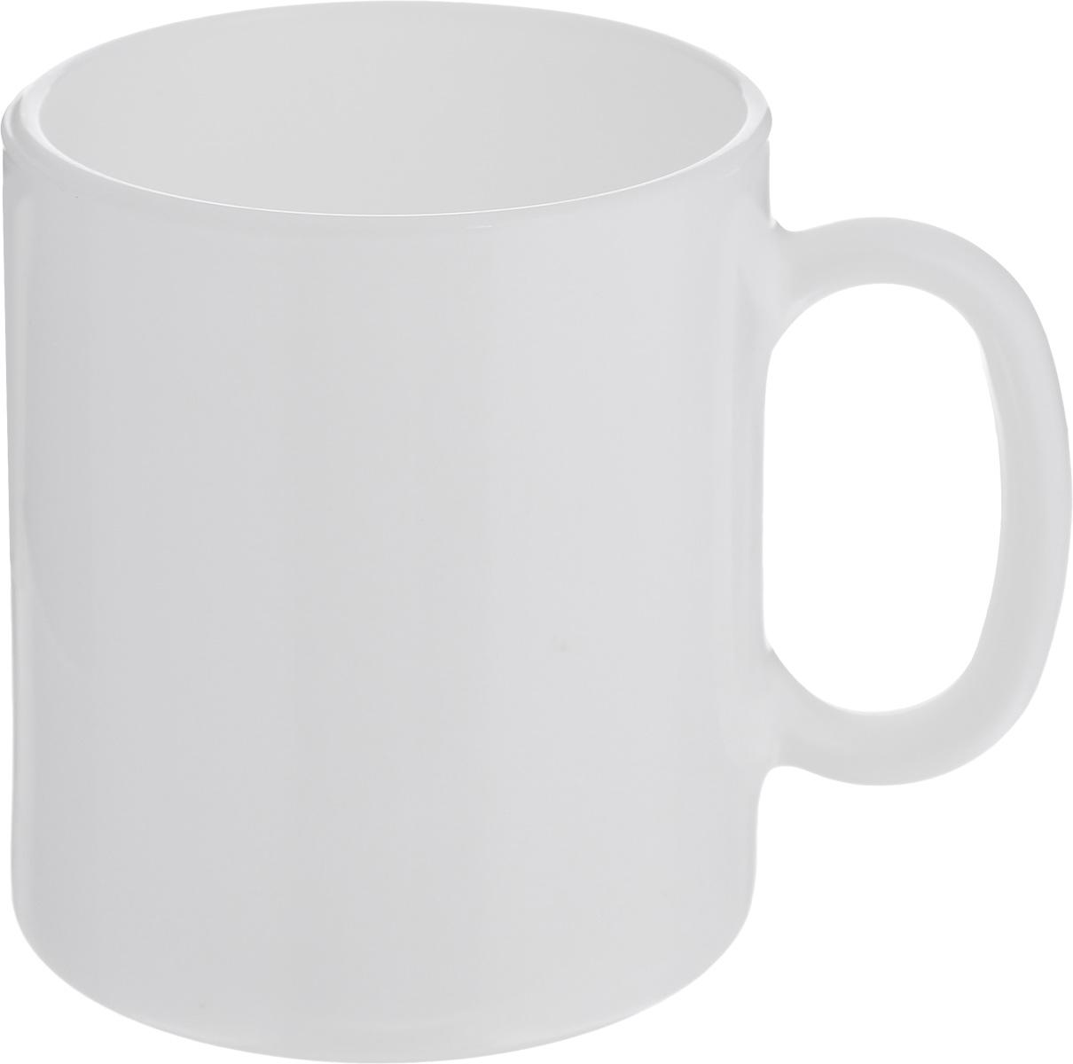 Кружка Luminarc, цвет: белый, 320 мл3651Кружка Luminarc, изготовленная из высококачественного стекла, прекрасно подойдет для вашей кухни. Яркий дизайн кружки придется по вкусу и ценителям классики, и тем, кто предпочитает утонченность и изысканность. Диаметр кружки (по верхнему краю): 8 см.