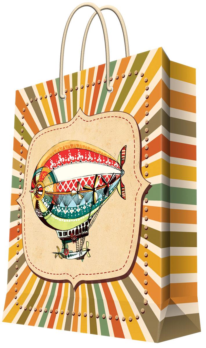 Пакет подарочный Феникс-Презент Дирижабль, 26 х 12,7 х 32,4 см35952Бумажный подарочный пакет Феникс-Презент Дирижабль станет незаменимым дополнением к выбранному подарку. Дно изделия укреплено плотным картоном, который позволяет сохранить форму пакета и исключает возможность деформации дна под тяжестью подарка. Пакет выполнен с глянцевой ламинацией, что придает ему прочность, а изображению - яркость и насыщенность цветов. Для удобной переноски на пакете имеются две ручки из шнурков. Подарок, преподнесенный в оригинальной упаковке, всегда будет самым эффектным и запоминающимся. Окружите близких людей вниманием и заботой, вручив презент в нарядном, праздничном оформлении.