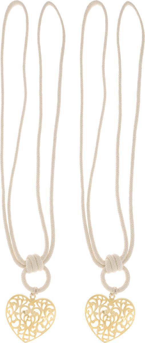 Подхват для штор Wehome Ажурное сердце, цвет: золотистый, длина 72 см, 2 шт7710623_золотойПодхват для штор Wehome Ажурное сердце выполнен из металла и представляет собой плотный канат с украшением в виде сердца. Подхват - это основной вид фурнитуры в декоре штор, сочетающий в себе не только декоративную функцию, но и практическую - регулировать поток света. Такой аксессуар способен украсить любую комнату. Длина подхвата: 72 см. Размер украшения: 5,3 см х 6 см.