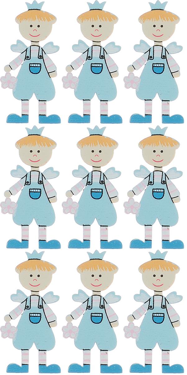 Набор декоративных элементов Hobby Time Мальчик, цвет: светло-голубой, 4,5 см х 2 см, 9 шт318503Набор Hobby Time Мальчик состоит из 9 декоративных элементов, выполненных из дерева в виде мальчика. Такой набор может пригодиться в оформлении предметов интерьера, подарков, открыток, цветочных букетов, а также в скрапбукинге. Необычные декоративные элементы добавят индивидуальности вашей творческой работе.