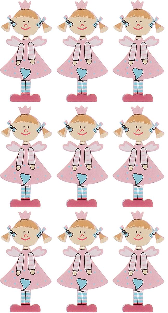 Набор декоративных элементов Hobby Time Девочка, цвет: розовый, 4,5 х 2 см, 9 шт318502Набор Hobby Time Девочка состоит из 9 декоративных элементов, выполненных из дерева в виде девочки. Такой набор может пригодиться в оформлении предметов интерьера, подарков, открыток, цветочных букетов, а также в скрапбукинге. Необычные декоративные элементы добавят индивидуальности вашей творческой работе.