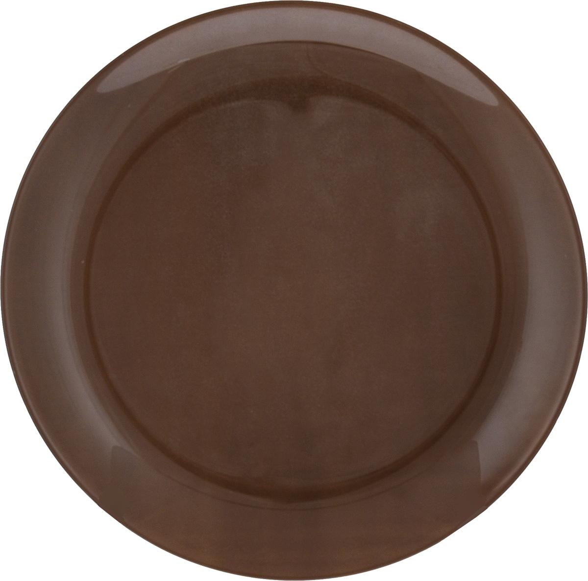 Тарелка десертная Luminarc Arty Chocolate, диаметр 20 смJ1662Десертная тарелка Luminarc Arty Chocolate, изготовленная из ударопрочного стекла, имеет изысканный внешний вид. Такая тарелка прекрасно подходит как для торжественных случаев, так и для повседневного использования. Идеальна для подачи десертов, пирожных, тортов и многого другого. Она прекрасно оформит стол и станет отличным дополнением к вашей коллекции кухонной посуды. Диаметр тарелки (по верхнему краю): 20 см.