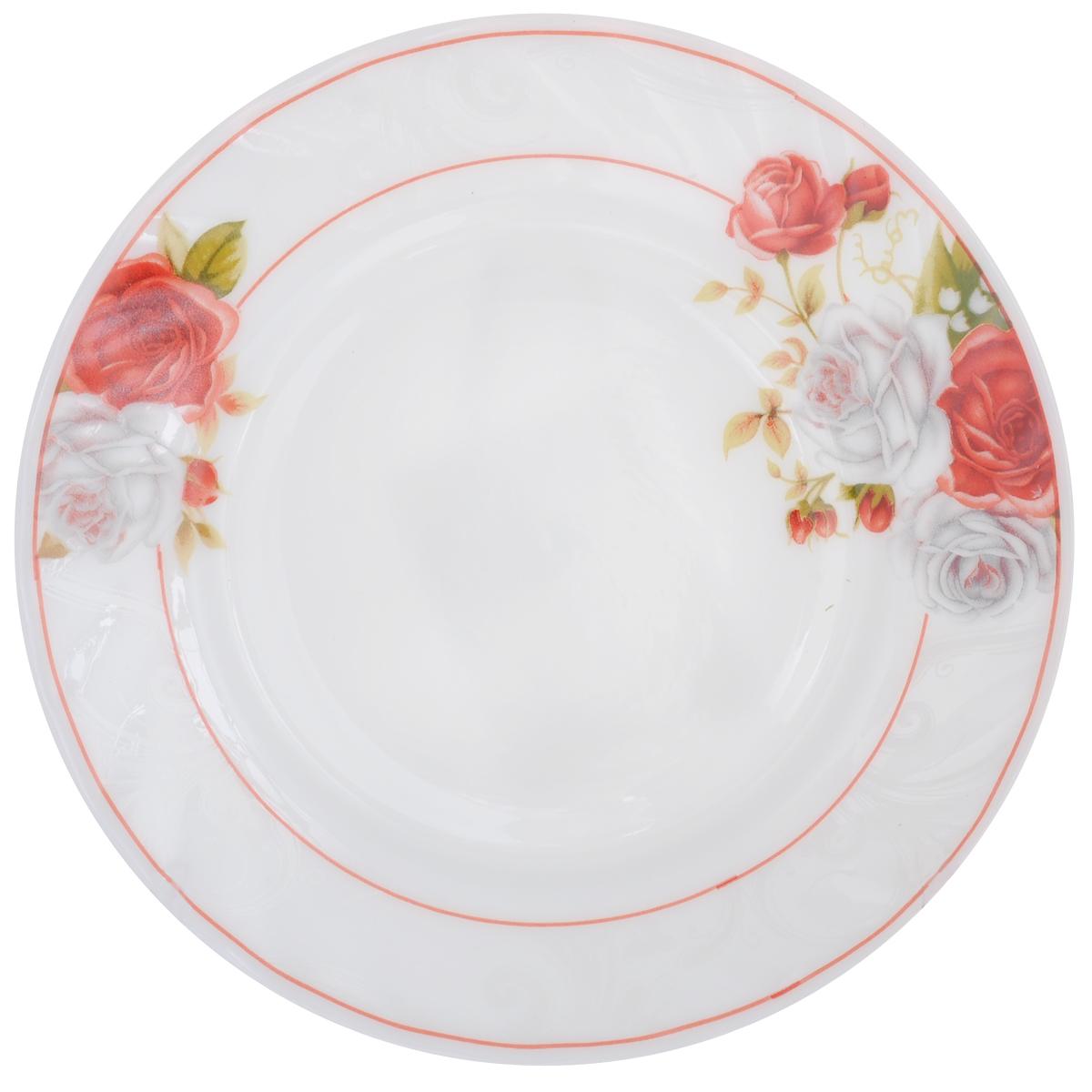 Тарелка десертная Chinbull Классик, диаметр 17,5 смHP-70/6627Десертная тарелка Chinbull Классик, изготовленная из экологически чистой стеклокерамики, оформлена красочным рисунком цветов и изящными узорами. Такая тарелка прекрасно подходит как для торжественных случаев, так и для повседневного использования. Идеальна для подачи десертов, пирожных, тортов и многого другого. Она прекрасно оформит стол и станет отличным дополнением к вашей коллекции кухонной посуды. Можно использовать в посудомоечной машине и СВЧ. Диаметр (по верхнему краю): 17,5 см. Высота стенки: 1,7 см.