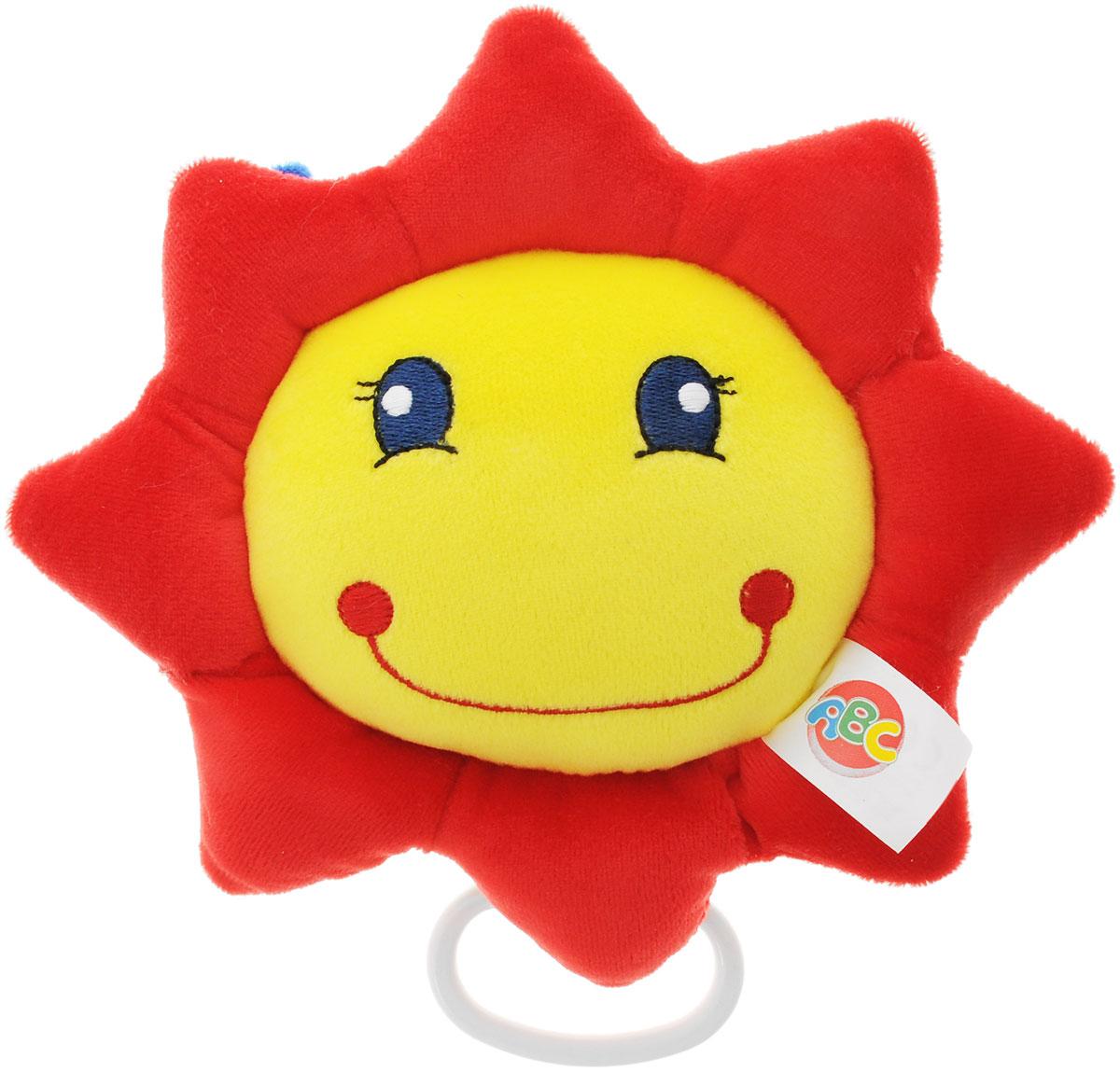 Simba Музыкальная игрушка-подвеска Солнышко4011339_солнышко, желтый, красныйМузыкальная игрушка-подвеска Simba Солнышко изготовлена из мягкого приятного на ощупь материала ярких приятных тонов в виде милого солнышка. Если вы потяните за пластиковое кольцо вниз, малыш услышит негромкую успокаивающую мелодию, которая поможет ему притихнуть и заснуть. Подвеска, наполненная гипоаллергенным волокном, проигрывает красивую мелодию, которая заменит наскучившие колыбельные. Крепится к кроватке с помощью специального петельки. Игрушка-подвеска Simba Солнышко развивает слух, моторику, зрительно- цветовое восприятие и обладает релаксирующим воздействием.
