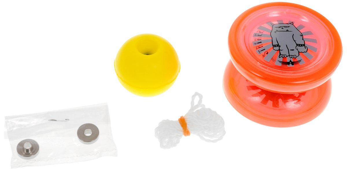 Aero-Yo Йо-йо Aero Striker цвет красный732011_красный/серый монстрЙо-йо Aero Striker - это переработанная версия бестселлера Cryptic Arc. Отличается отличным распределением веса, подшипником с канавкой для центровки веревки, мягкой тормозной системой, что отличает йо-йо Striker от низкокачественных игрушек-однодневок и позволяет освоить множество продвинутых трюков. Профессиональное пластиковое йо-йо, которое не оставит равнодушным игрока любого уровня. Игрушка состоит из двух симметричных половинок соединенных осью, к которой прикреплена веревка. Тип подшипника: Grooved D. Йо-йо упакован в металлическую упаковку с окошком.